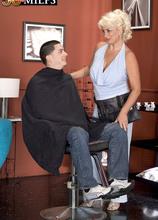 Dana Hayes: XXX hair salon - Dana Hayes and Alex Gonz (69 Photos) - 50 Plus MILFs