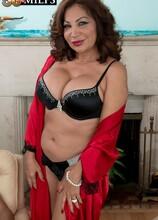 Ass-fucking, cum-guzzling Latina MILF - Sandra Martines and Juan Largo (52 Photos) - 50 Plus MILFs