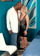 First Interracial, First Ass Fuck! - Ellie Anderson and Lucas Stone (56 Photos) - 50 Plus MILFs