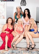 The first-ever six-way granny orgy - Cammille Austin, Chery Leigh, Luna Azul, Mia Magnusson, Rita Daniels, and Sally D'Angelo (96 Photos) - 60 Plus MILFs