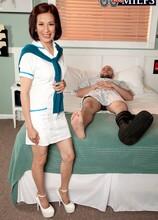 Nurse Kim heals the sick, fucks the giant hard-on - Kim Anh and J Mac (47 Photos) - 60 Plus MILFs