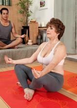 Bea takes a yoga class - Bea Cummins and Rocky (50 Photos) - 60 Plus MILFs