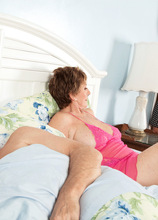Is Bea's hubby a cuckold? Or was he in on this? - Bea Cummins, Johnny Champ, and Mr. Cummins (44 Photos) - 60 Plus MILFs