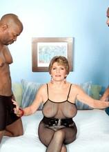 Two Big, Black Cocks For Bea Cummins! - Bea Cummins, Asante Stone, and Lucas Stone (46 Photos) - 60 Plus MILFs