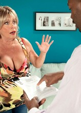 WARNING! You've Been Served...With Cum! - Lexi McCain and Lucas Stone (57 Photos) - 60 Plus MILFs