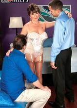 Bea Cummins Returns...For A Threesome! - Bea Cummins, John Strange, and Juan Largo (59 Photos) - 60 Plus MILFs