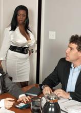 Boob Science: Big Tit Boss Lady - Aileen Ghettman and Levi Cash (100 Photos) - Scoreland