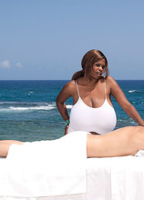 Cock-Milking Mammary Massage By Miosotis - Miosotis and Juan Largo (60 Photos) - Scoreland