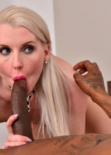 Hot mom Lexi Lou is back for another round of horny fun, this time with a partner for hardcore action. Watch this European milf get her puffy lips filled with cock before taking a hardcore pussy pounding between her nether lips. She rides her stud 'till s