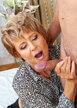Granny gets the full load from her toyboy