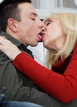 Naughty mature slut fucking her younger lover