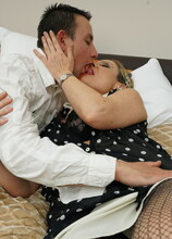 Naughty housewife fooling around with her younger lover