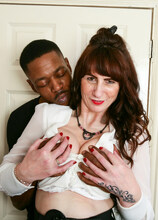 Naughty Toni Lace goes interracial