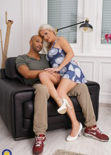 Hot MILF goes interracial