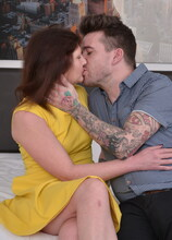 Hairy British housewife fucking with herlover
