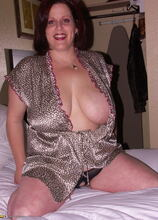 Big titted mama getting cum and pee