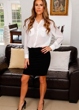 Tall MILF Tara Ashley slips out of her business skirt and panties. in Karupsow | Elite Mature