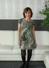 Mature redhead Amy D posing naked in only her black stockings. in Karupsow | Elite Mature