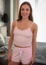 Brunette MILF Alyssa Reece spreads her trimmed pussy lips. in Karupsow | Elite Mature