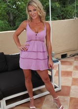 Fit older babe Sydney Hail exposes her tan lined naked body. in Karupsow | Elite Mature