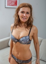 Sexy MILF Drugaya exposes her hairy older pussy. in Karupsow | Elite Mature