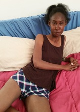 Ebony MILF Chiyoki masturbates with her favorite sex toy. in Karupsow | Elite Mature