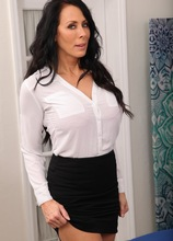 Busty mature babe Reagan Foxx undresses after work at the office. in Karupsow | Elite Mature