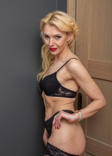 Stunning MILF Milena naked in only her black stockings. in Karupsow | Elite Mature