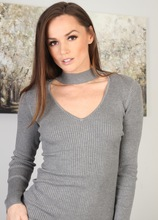 Tall brunette MILF Tori Black pulls down her sexy pink panties. in Karupsow | Elite Mature