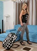 Busty MILF Klarisa naked wearing only her black high heels. in Karupsow | Elite Mature