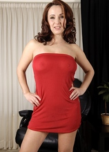Megan slips out of her sexy red dress! in Karupsow | Elite Mature