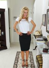 Stunning mature cougar Pamela Rivett exposes big fake tits. in Karupsow | Elite Mature