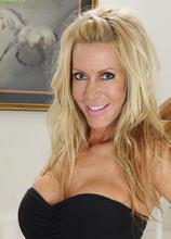 Gorgeous older blonde Pamela Rivett spreads her pussy lips. in Karupsow | Elite Mature