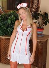 Slutty MILF Nurse Chelsea Dunes strips butt naked. in Karupsow | Elite Mature