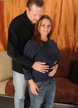Horny MILF Gia Sophia rides her man cowgirl style. in Karupsow | Elite Mature
