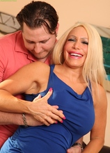 Busty cougar Alexis Diamonds bounces on his cock. in Karupsow | Elite Mature