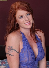 Mature redhead Sara Orlando toys her juicy pussy. in Karupsow | Elite Mature