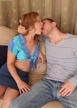 Horny older babe Laura Gains displays excellent oral skills. in Karupsow | Elite Mature
