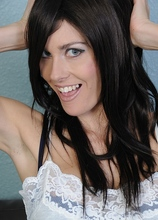 Dark haired fox Chloe strip out of her bra and panties. in Karupsow | Elite Mature