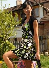 Gorgeous MILF Malinka strips butt naked outdoors. in Karupsow | Elite Mature