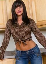 Busty MILF Mackenzie Marie strips naked in kitchen. in Karupsow | Elite Mature