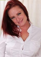 Redhead secretary Brandie Jones spreads MILF pussy on desk. in Karupsow | Elite Mature