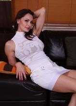 Stunning older babe Nora Noir rubbing her clit. in Karupsow | Elite Mature