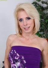 Horny older blond Jodie Stacks grinding on pink toy. in Karupsow | Elite Mature