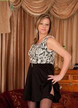 Blonde wife Louise Pearce has panties around her ankles.
