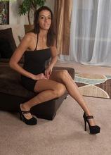 Brunette MILF Khloe Kash fingering her tight pussy. in Karupsow | Elite Mature
