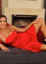 Busty brunette MILF Anita Queen jams yellow toy deep inside her box. in Karupsow | Elite Mature