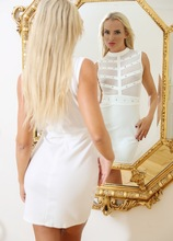 Stunning MILF Victoria Pure admires her pussy in the mirror. in Karupsow | Elite Mature
