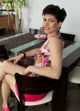 Hairy MILF Halle stuffs big dildo in her muff. in Karupsow | Elite Mature