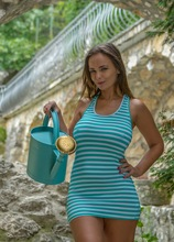Big natural breasted MILF Stella Jones fingers her twat outdoors. in Karupsow | Elite Mature